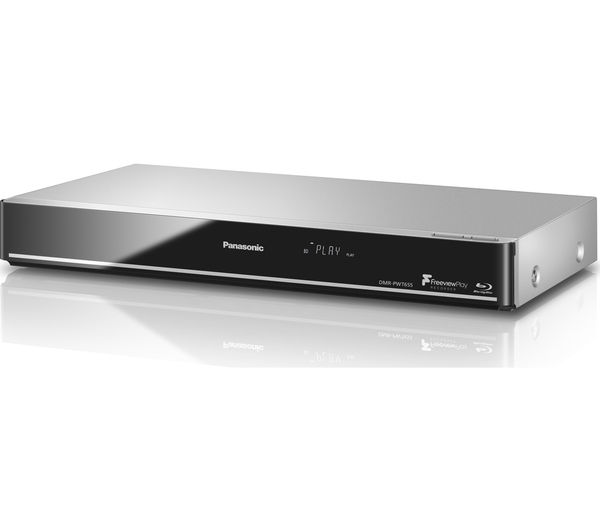 Image of PANASONIC DMR-PWT655EB Smart 3D Blu-ray & DVD Player with Freeview Play Recorder - 1 TB HDD