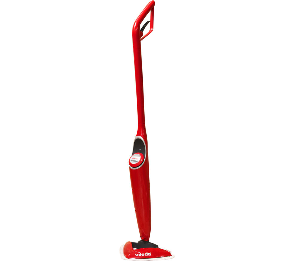VILEDA 100°C Hot Spray Steam Mop - Red