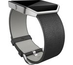 FITBIT Blaze Leather Accessory Band - Large, Black