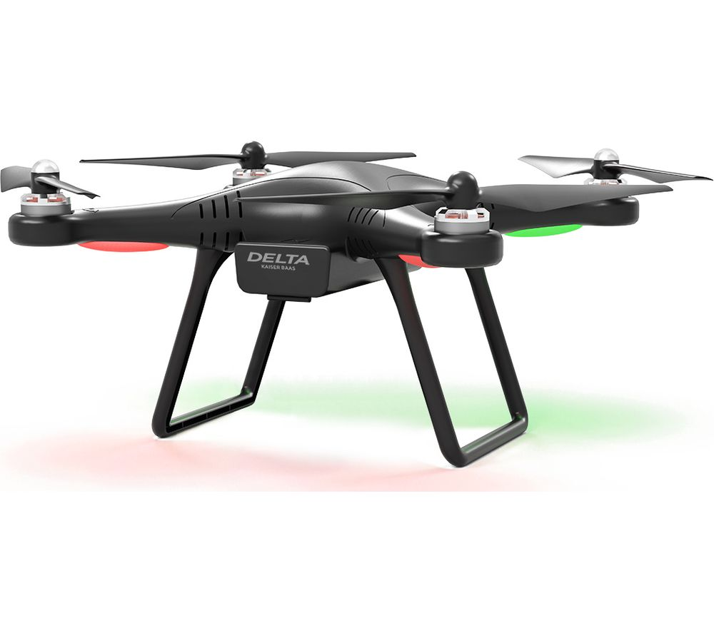 KAISER BAAS Delta KBA15007 Drone with Controller - Black + Ultra Performance Class 10 microSD Memory Card - 16 GB