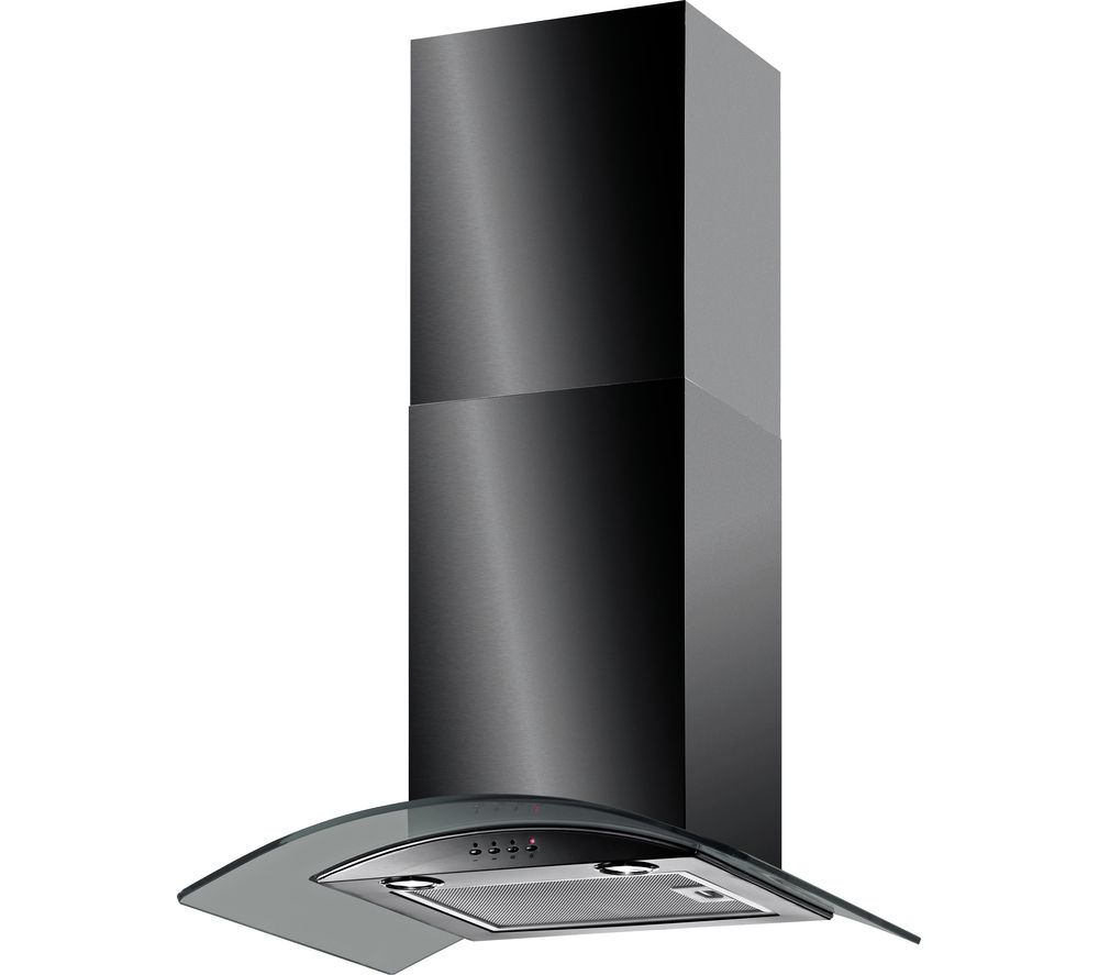 BAUMATIC BT6.3BGL Chimney Cooker Hood - Black