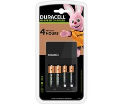 DURACELL Value Hi-Speed 4-Battery Charger with Batteries