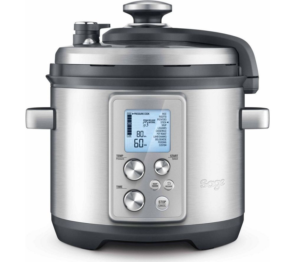 Image of SAGE by Heston Blumenthal Fast Slow Pro Pressure/Slow Cooker - Stainless Steel, Stainless Steel