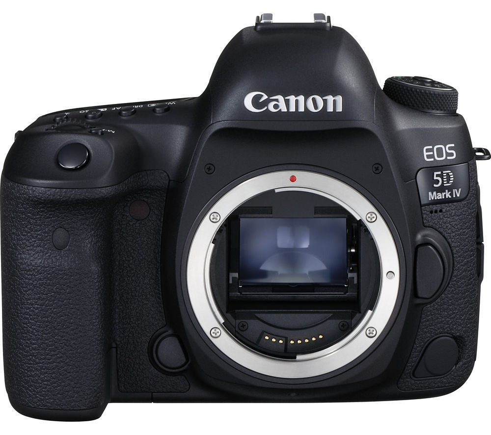Canon Eos 5d Mark Iv Dslr Camera Black Body Only Black