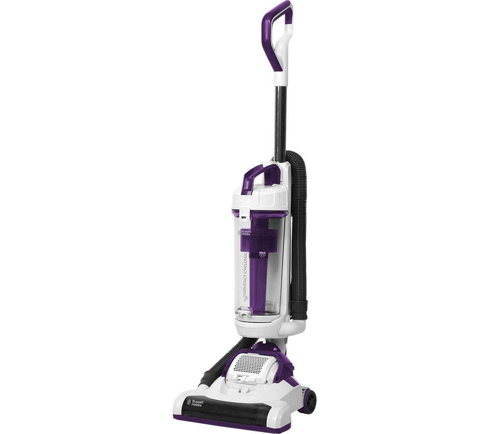 RUSSELL HOBBS RHUV3002 Upright Bagless Vacuum Cleaner - White & Purple