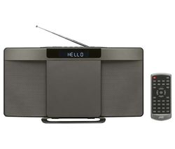JVC RD-D227B Wireless Flat Panel Hi-Fi System - Gun Metal
