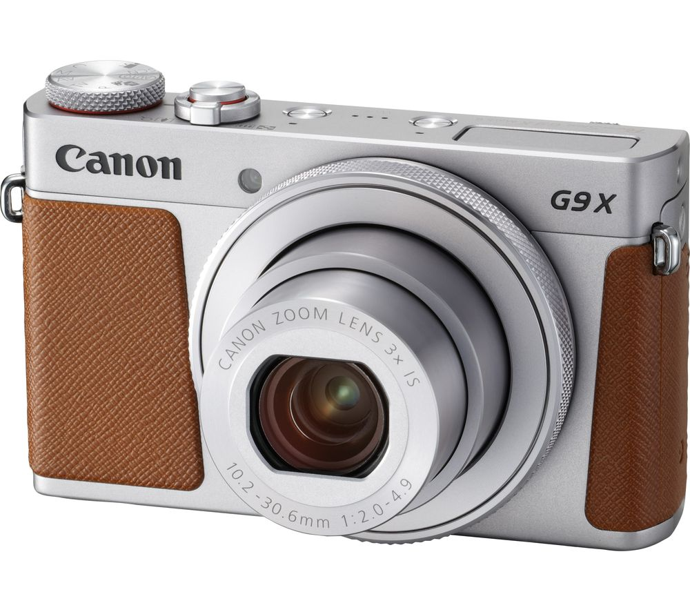 CANON PowerShot G9X MK II High Performance Compact Camera - Silver + Extreme Plus Class 10 SD Memory Card Twin Pack - 16 GB