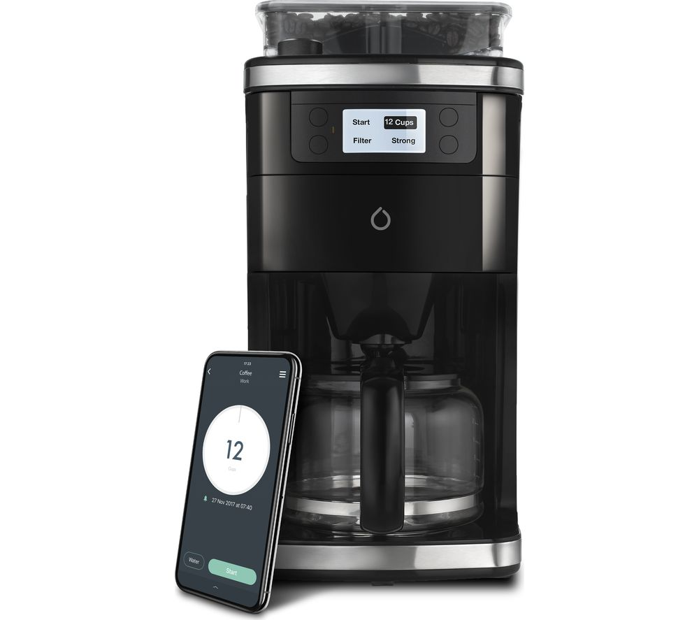 SMARTER 2nd Generation Smart Bean to Cup Coffee Machine - Stainless Steel, Stainless Steel