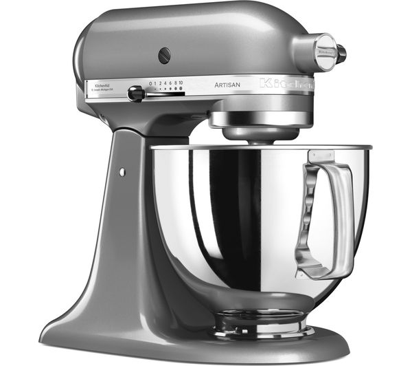 buy kitchenaid artisan 5ksm125bcu stand mixer contour silver free delivery currys. Black Bedroom Furniture Sets. Home Design Ideas
