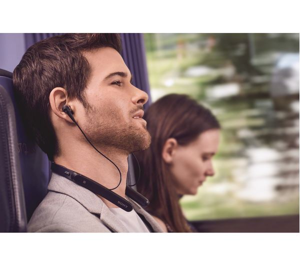 7382b7e6ac2 SONY WI-1000X Wireless Bluetooth Noise-Cancelling Headphones - Black