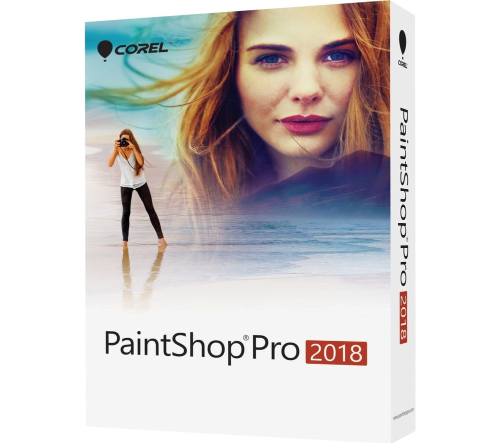 COREL PaintShop Pro 2018 - Lifetime for 1 device, Red