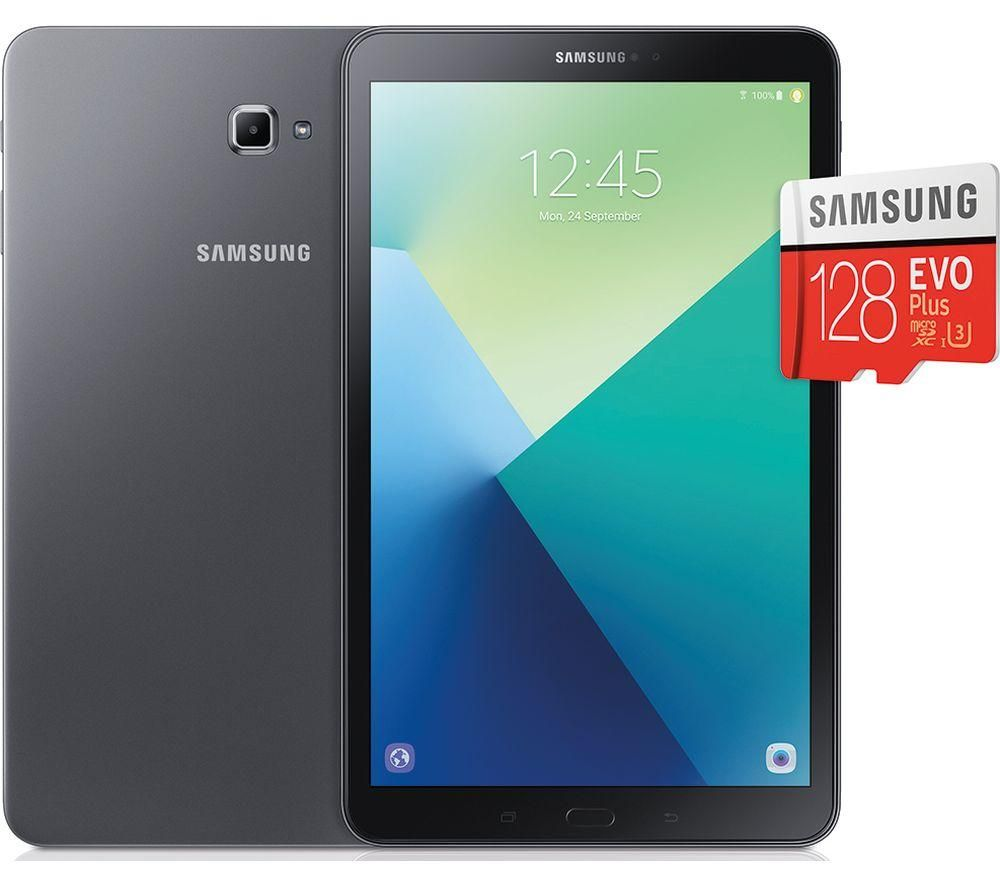 samsung galaxy tab a 10 1 tablet 128 gb sd card bundle grey deals pc world. Black Bedroom Furniture Sets. Home Design Ideas