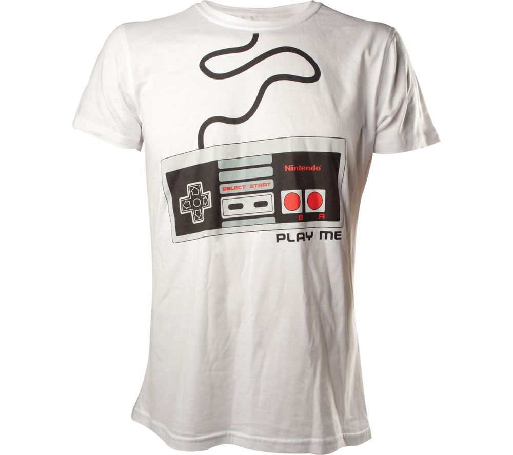 NINTENDO Joystick T-Shirt - White, Large