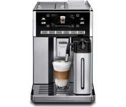 DELONGHI Prima Donna Exclusive ESAM6900.M Bean to Cup Coffee Machine - Black & Stainless Steel Best Price, Cheapest Prices