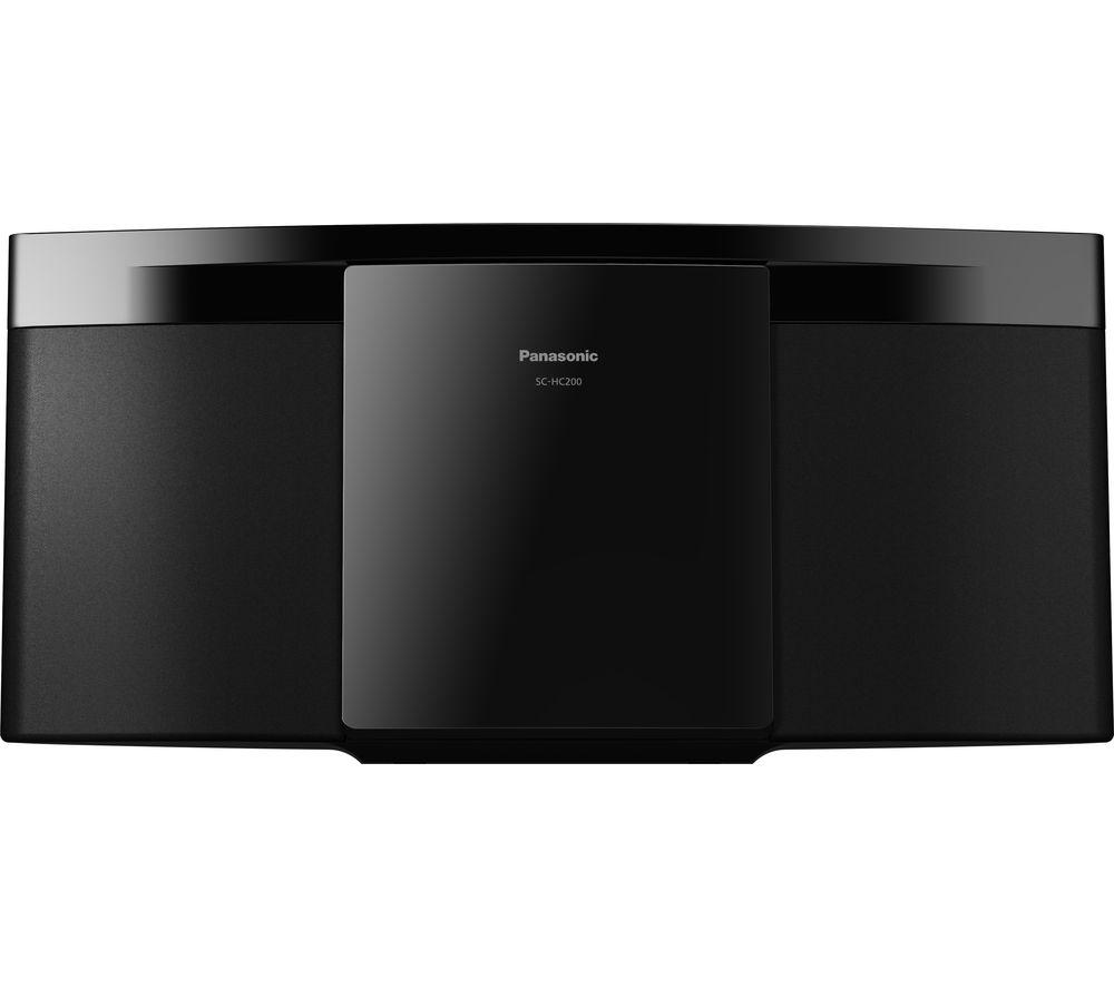 PANASONIC SC-HC200EB-K Bluetooth Flat Panel Hi-Fi System - Black