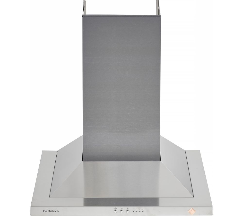 DE DIETRICH DHP7612X Chimney Cooker Hood - Stainless steel, Stainless Steel