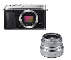 FUJIFILM X-E3 Mirrorless Camera - Silver, Body Only