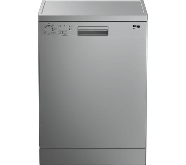 Image of BEKO DFN05X11S Full-size Dishwasher - Silver