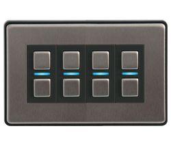 LIGHTWAVE Smart Series 4 Gang Dimmer Switch - Stainless Steel
