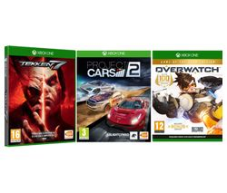XBOX ONE Overwatch, Project Cars 2 & Tekken 7 Bundle