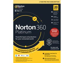 NORTON 360 Platinum 2019 - 1 year for 20 devices