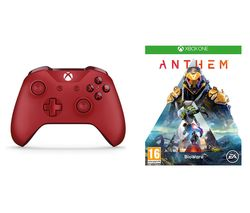 XBOX ONE Anthem & Xbox One Wireless Controller Bundle - Red