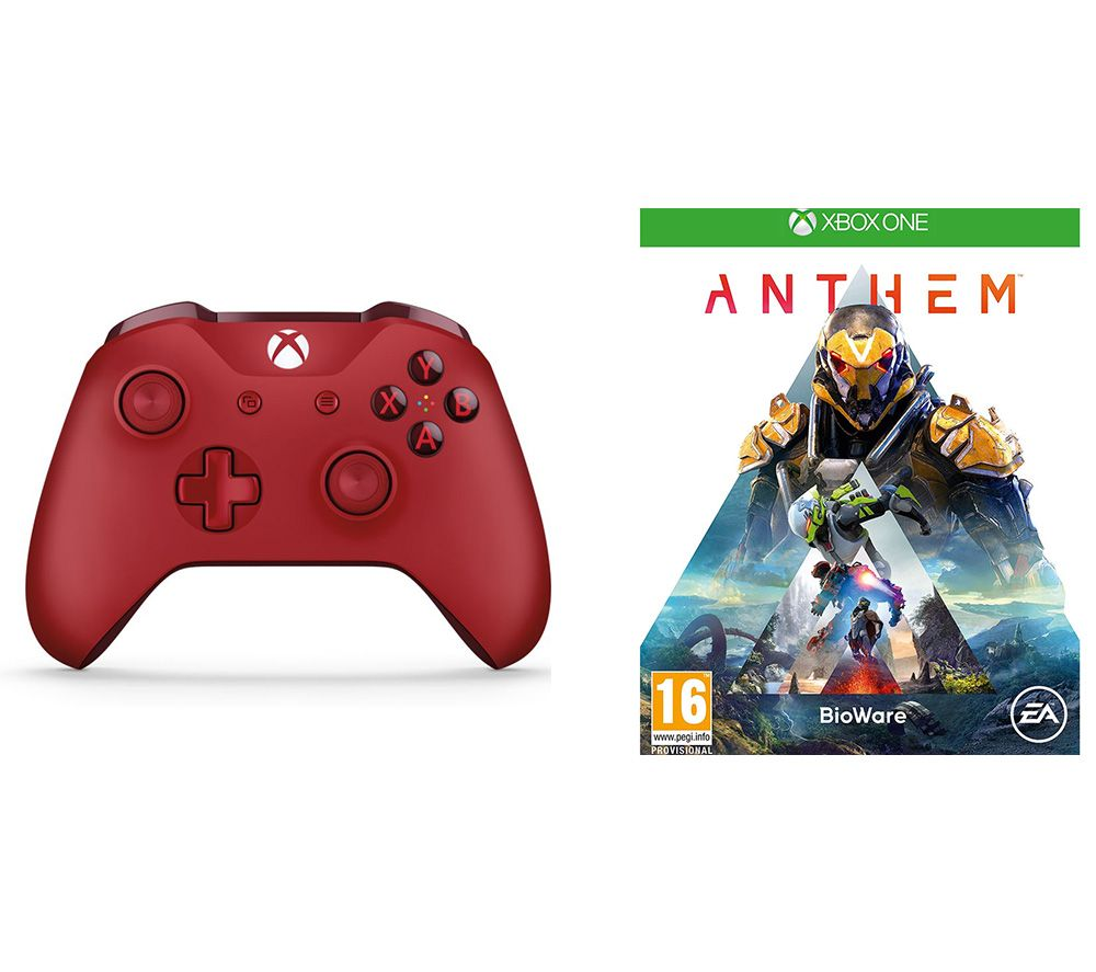 Anthem & Xbox One Wireless Controller Bundle - Red