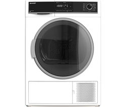 SHARP KD-HHH8S7GW2-EN 8 kg Heat Pump Tumble Dryer - White