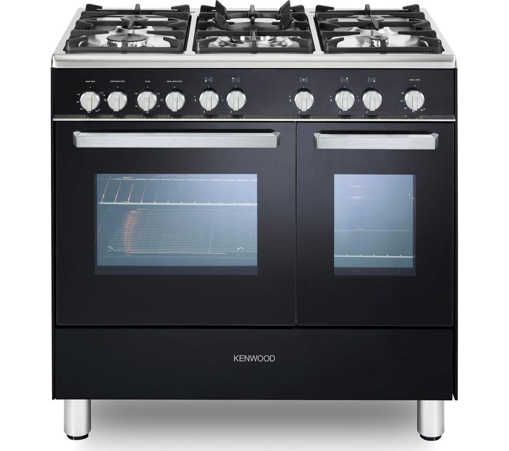 KENWOOD CK407G 90 cm Gas Range Cooker - Black & Chrome
