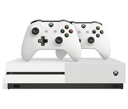 MICROSOFT Xbox One S & Two Wireless Controllers Bundle - 1 TB