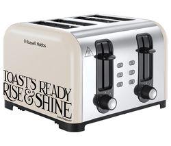 RUSSELL HOBBS Emma Bridgewater Toast & Marmalade 4-Slice Toaster - Cream