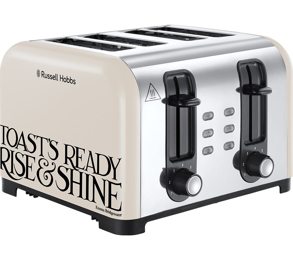 RUSSELL HOBBS Emma Bridgewater Toast & Marmalade 4-Slice Toaster - Cream, Cream