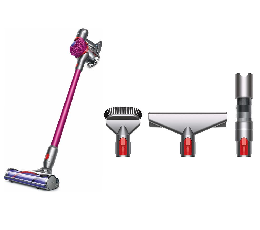 DYSON V7 Motorhead Cordless Bagless Vacuum Cleaner & Home Cleaning Accessory Kit Bundle - Pink