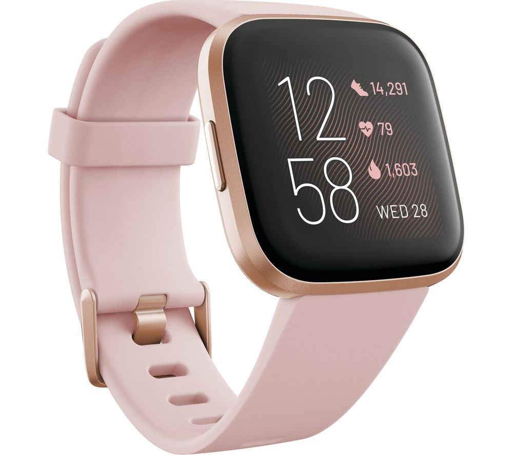 FITBIT Versa 2 with Amazon Alexa - Petal & Copper Rose