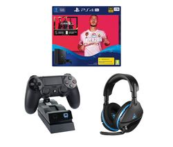 SONY Playstation 4 Pro with FIFA 20, Twin Docking Station & Gaming Headset Bundle - 1 TB