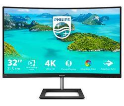 "PHILIPS 328E1CA 4K Ultra HD 31.5"" Curved LED Monitor - Black"