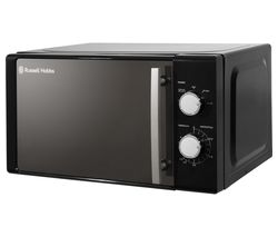 RUSSELL HOBBS RHM2060B Compact Solo Microwave - Black Best Price, Cheapest Prices