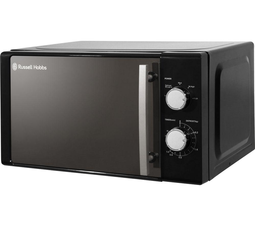 RUSSELL HOBBS RHM2060B Compact Solo Microwave - Black, Black