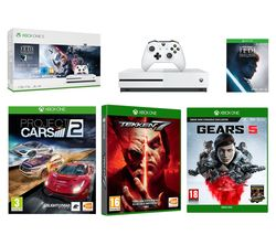 MICROSOFT Xbox One S, Star Wars Jedi: Fallen Order, Gears 5, Tekken 7 & Project Cars 2 Bundle