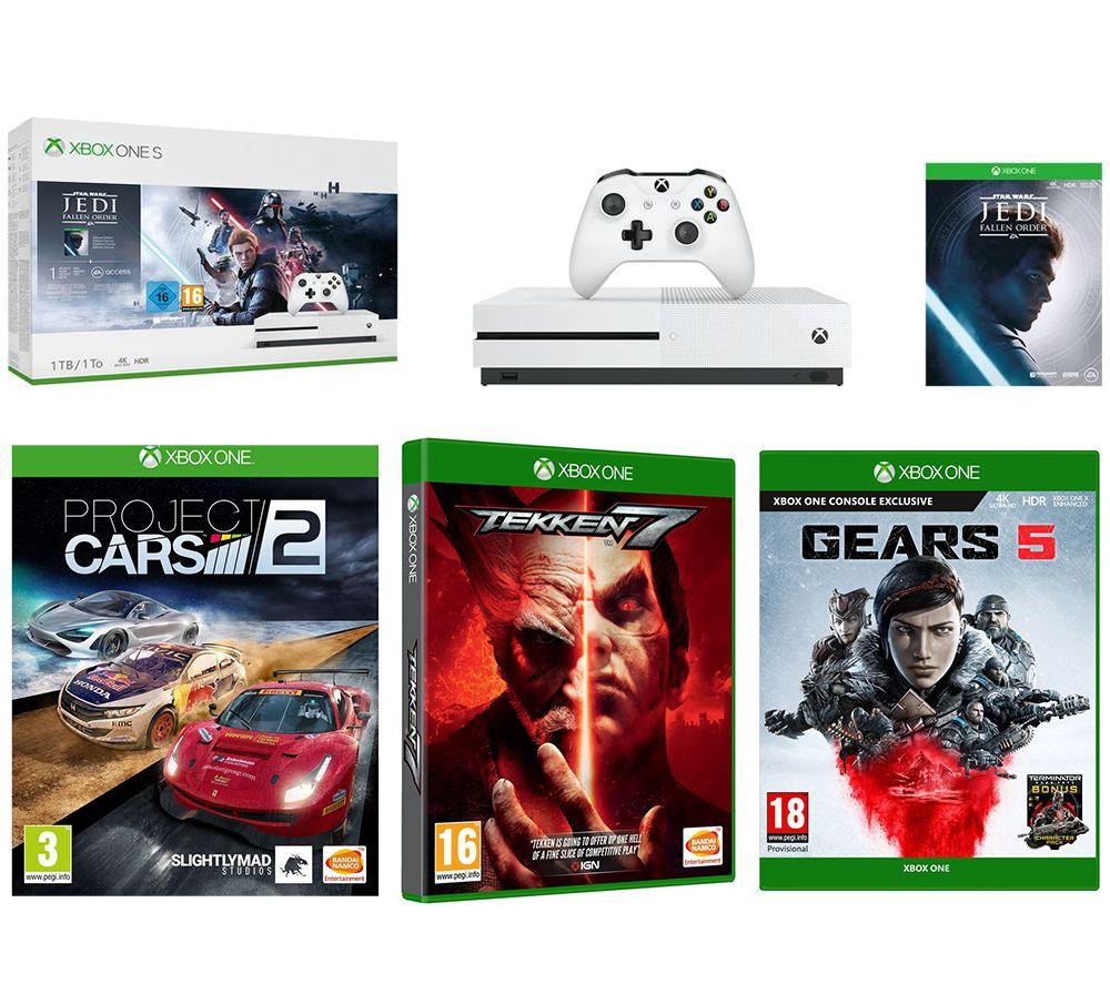 MICROSOFT Xbox One S, Star Wars Jedi: Fallen Order, Gears 5, Tekken 7 & Project Cars 2 Bundle
