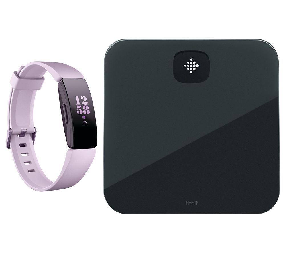 FITBIT Inspire HR Fitness Tracker & Aria Air Smart Scale Bundle - Lilac, Universal