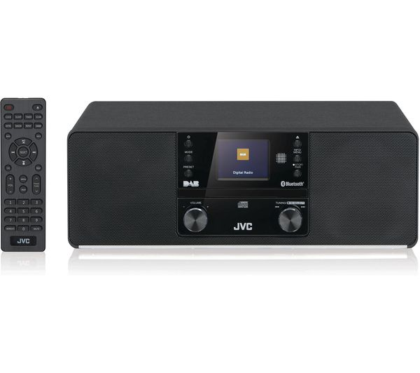 Image of JVC RD-D80 Bluetooth All-in-One Hi-Fi System - Black