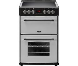 BELLING Farmhouse 60E Electric Ceramic Cooker - Silver & Black Best Price, Cheapest Prices