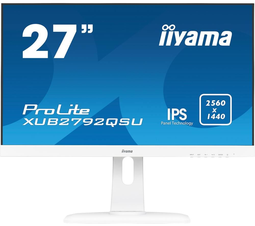 "Image of IIYAMA ProLite XUB2792QSU-W1 Quad HD 27"" IPS LCD Monitor - White, White"