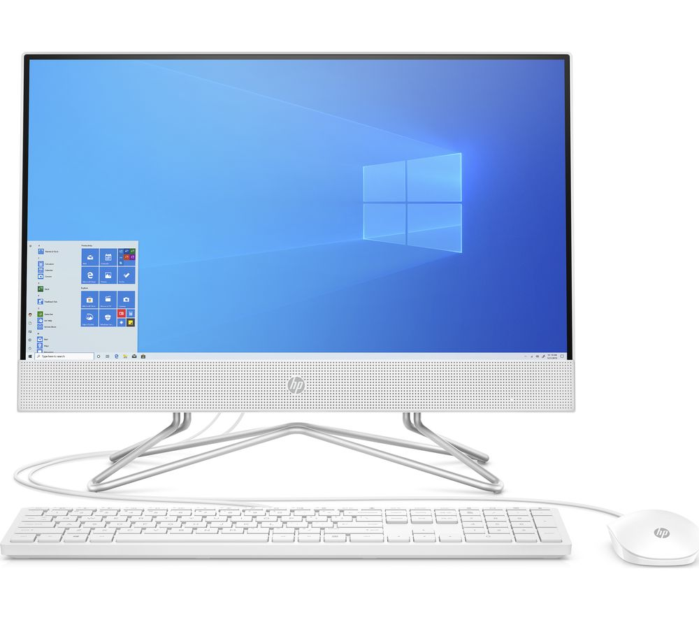 "Image of HP 22-df0018na 21.5"" All-in-One PC - AMD Ryzen 3, 256 GB SSD, White"