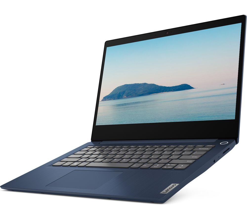 "LENOVO IdeaPad 3i 14"" Laptop - Intel® Pentium® Gold, 128 GB SSD, Blue"