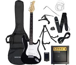 XF Full Size Electric Guitar Bundle - Black