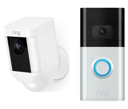 Spotlight Cam Battery & Video Doorbell 3 Bundle - White