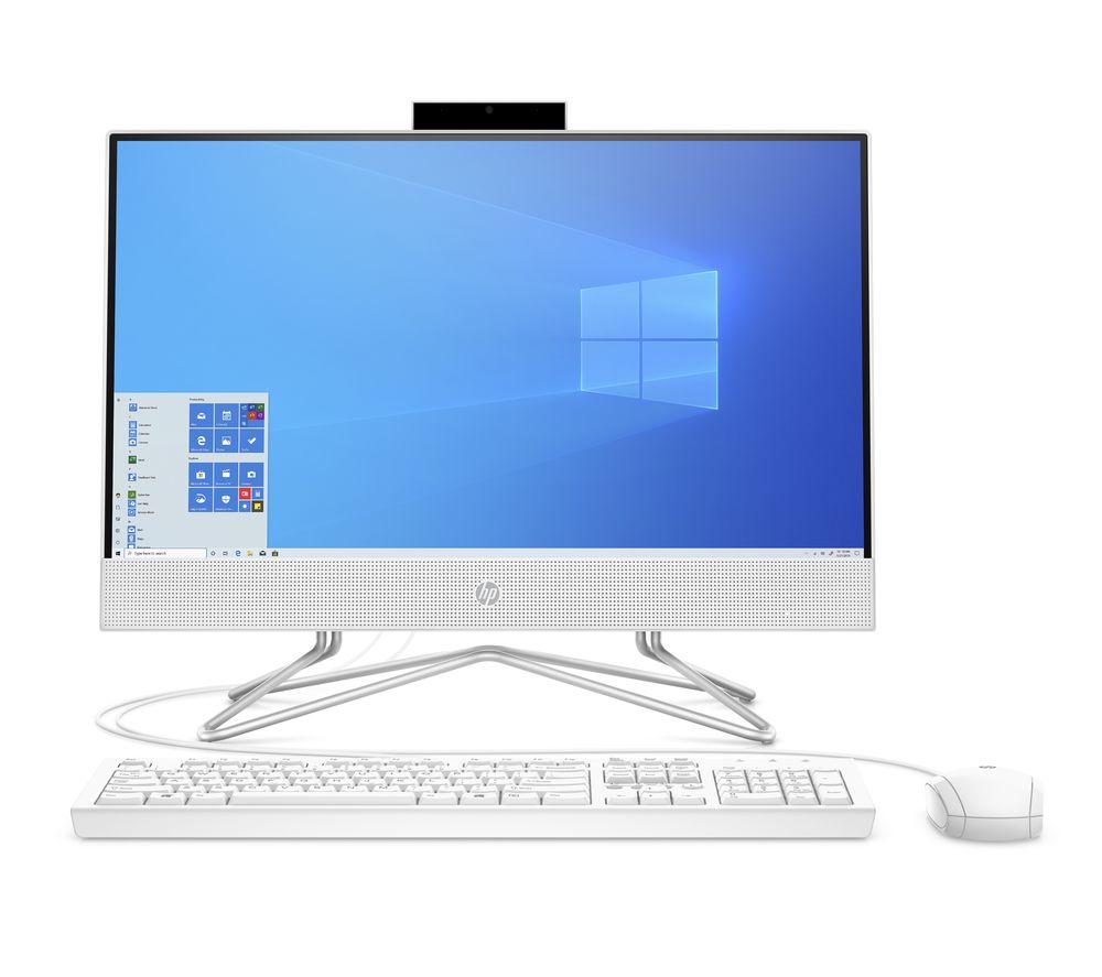 "HP 22-df0005na 21.5"" All-in-One PC - Intel® Core™ i3, 128 GB SSD, White"