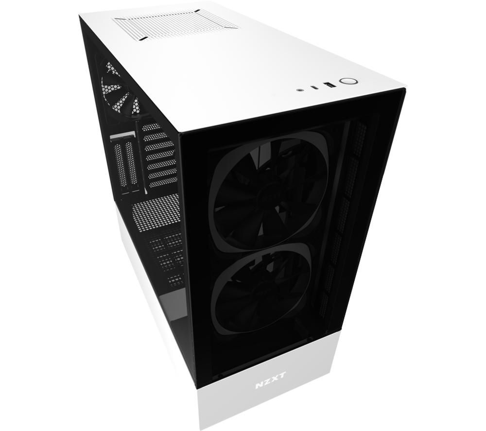 Image of NZXT H510 Elite ATX Mid-Tower PC Case - White, White